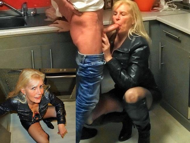 Video Thumbnail Leder Bitch bekommt Spermaladung ins Gesicht