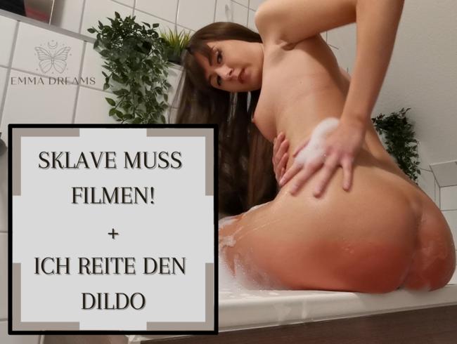 Video Thumbnail Sklave muss filmen - ich reite den Dildo!