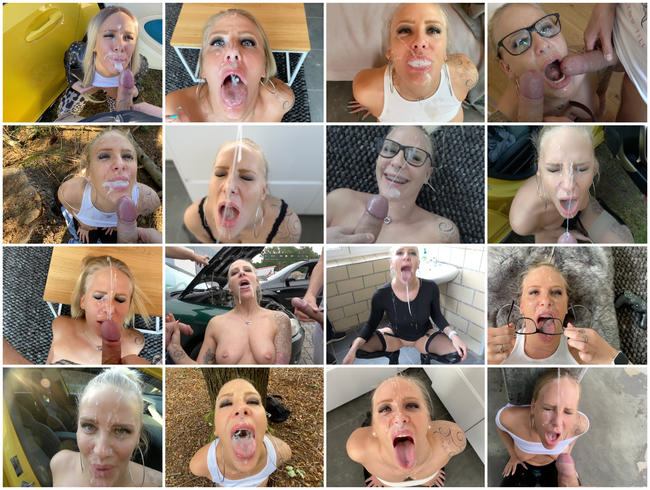 Video Thumbnail 25 Gesichtsbesamungen, Spermaspiele und Schlucken | BEST OF FACIAL 2020