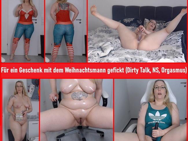 Video Thumbnail Für ein Geschenk mit Weihnachtsmann gefickt ( Dirty Talk, NS; Orgasmus)