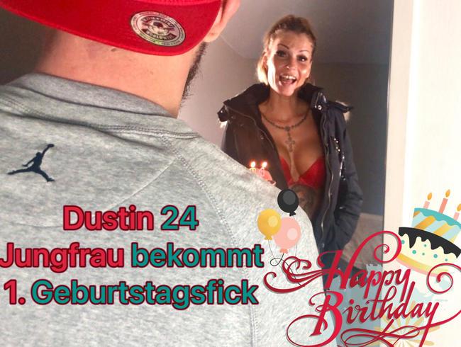 Video Thumbnail Dustin 24 JUNGFRAU  bekommt 1. Geburtstagsfick