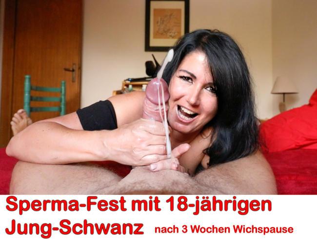 Video Thumbnail Sperma-Fest mit 18-jährigen Jung-Spritzer! 9 Spritzer!