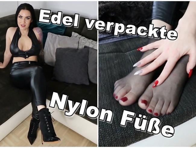 Video Thumbnail Edel verpackte Nylon Füße