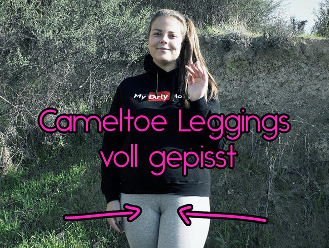 Video Thumbnail Cameltoe Leggings voll gepisst