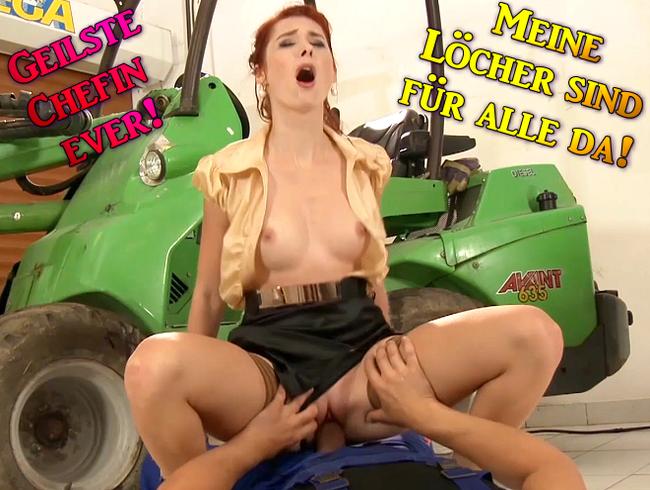 Video Thumbnail Geilste Chefin ever! Meine Löcher sind für alle da!!!