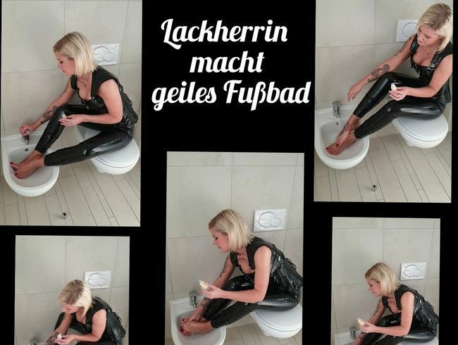 Video Thumbnail Lackherrin macht geiles Fußbad