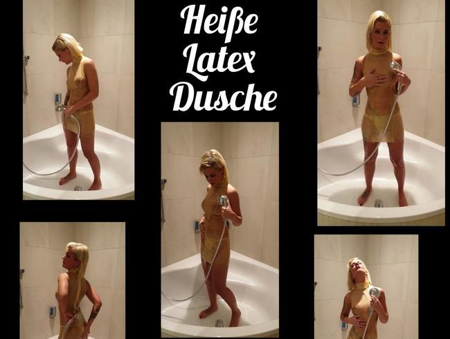 Video Thumbnail Heiße Latex Dusche