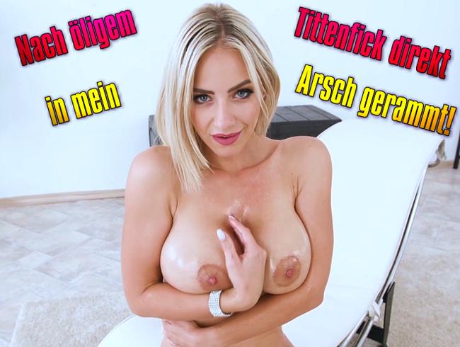 Video Thumbnail Nach öligem Tittenfick direkt in mein Arsch gerammt!