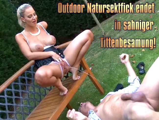 Video Thumbnail Outdoor Natursektfick endet in sahniger Tittenbesamung!