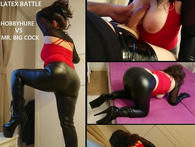 nylonwife - LATEX BATTLE - HOBBYHURE VS MR. BIG COCK
