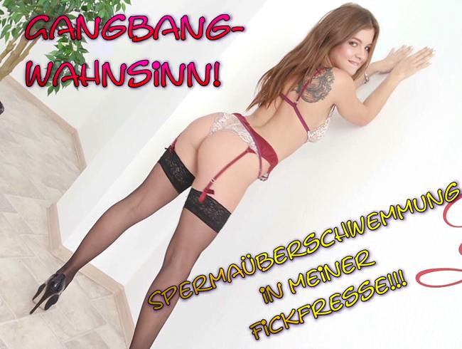 Video Thumbnail Gangbangwahnsinn! Spermaüberschwemmung in meiner Fickfresse!!!