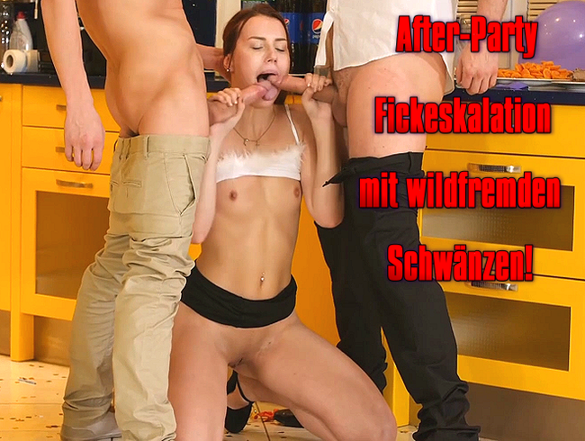 Video Thumbnail After-Party Fickeskalation mit wildfremden Schwänzen!