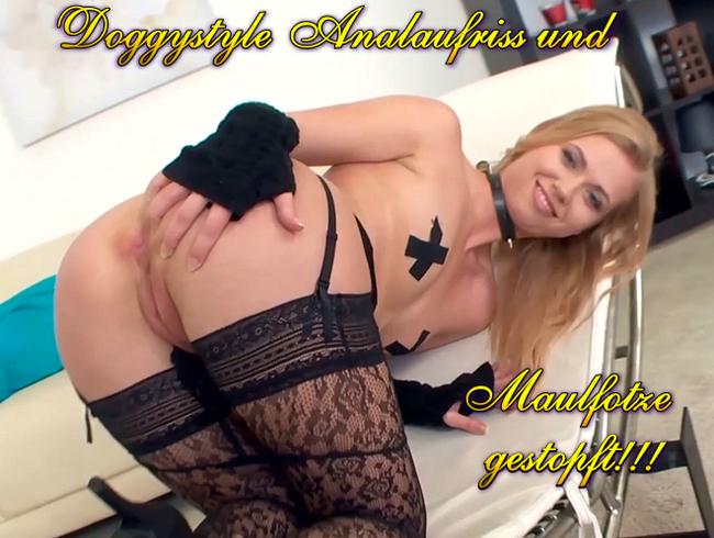 Video Thumbnail Doggystyle Analaufriss und Maulfotze gestopft!!!