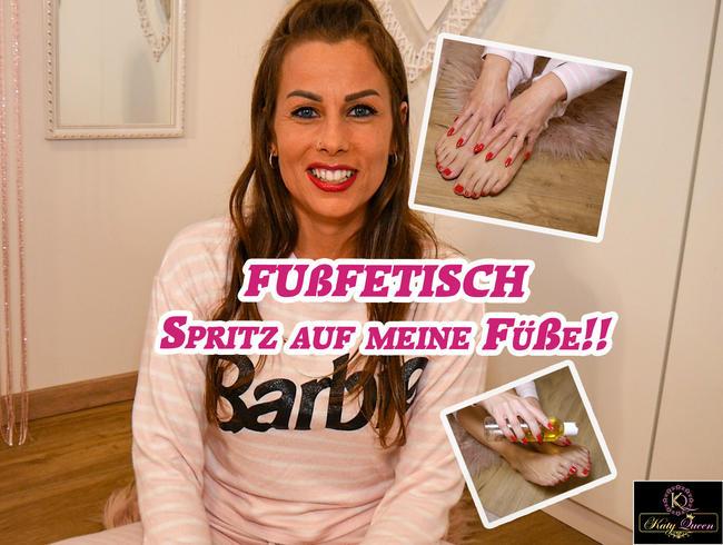 Video Thumbnail FUßFETISCH - Spritz auf meine Füße!!