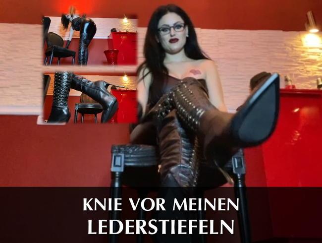Video Thumbnail Knie vor meinen Lederstiefeln