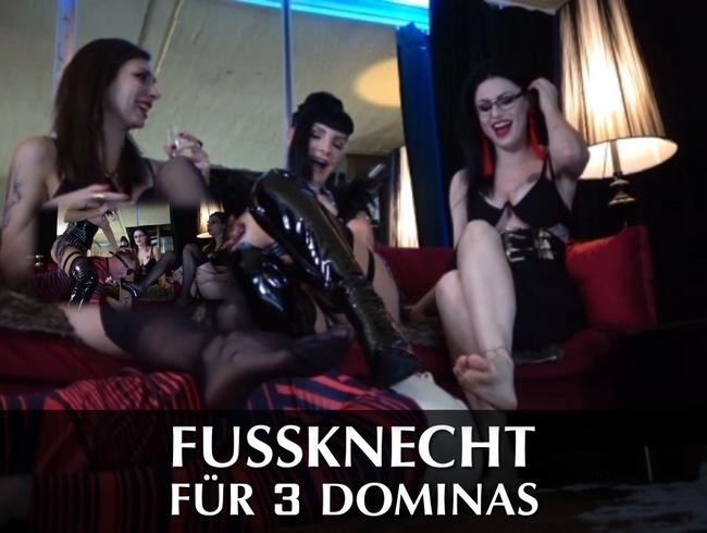 Video Thumbnail Fussknecht für 3 Dominas