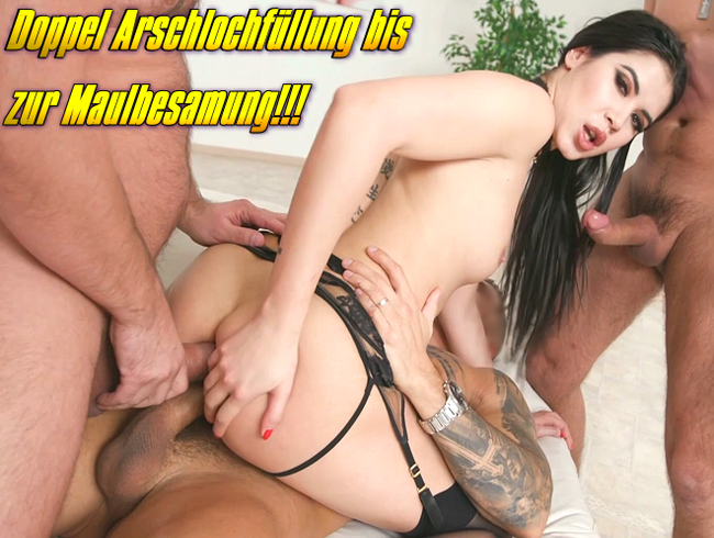 Video Thumbnail Doppel Arschlochfüllung bis zur Maulbesamung!!!