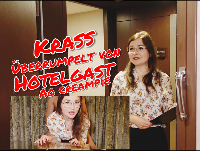 Video Thumbnail Krass überrumpelt von Hotelgast!! AO Creampie