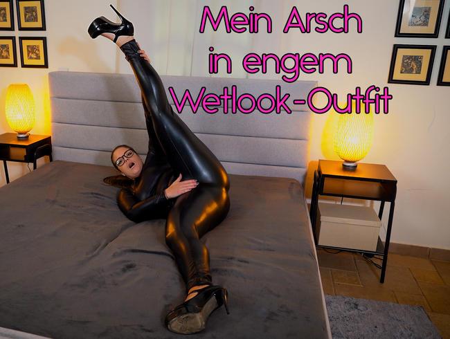 Video Thumbnail Mein Arsch in engem Wetlook - Outfit
