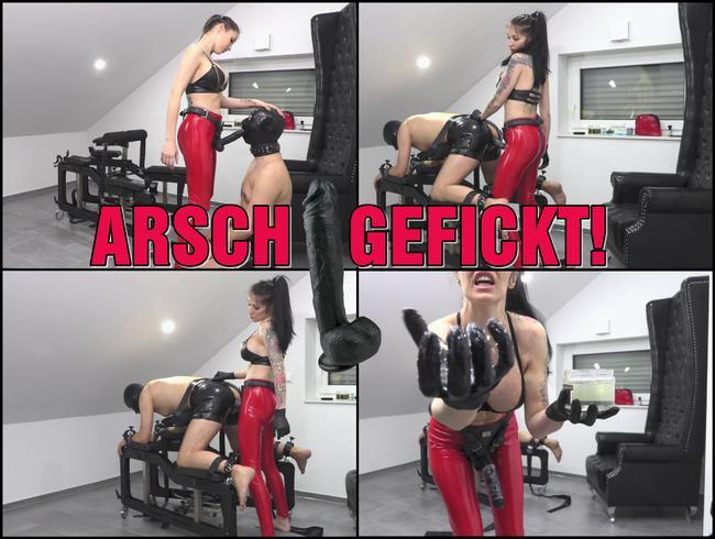 Video Thumbnail ARSCH GEFICKT | Latex Analsau wird tief in Maul und Arsch gefickt