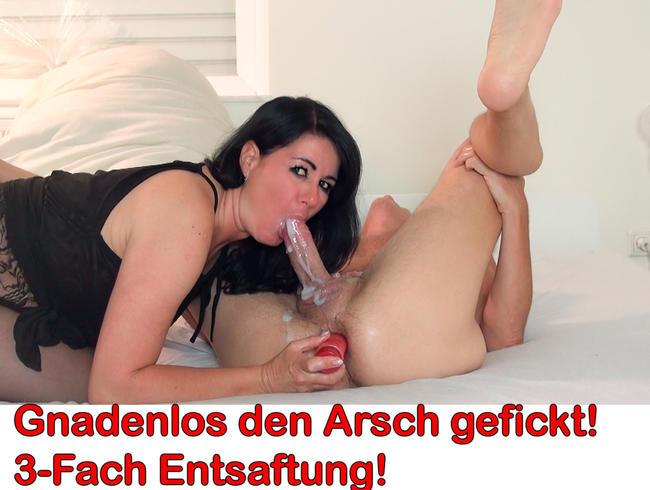 Video Thumbnail Gnadenlos den Arsch zerfickt! 3-Fach Entsaftung!