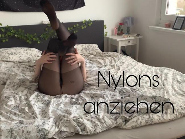 Video Thumbnail Nylons anziehen & Arschpräsentation