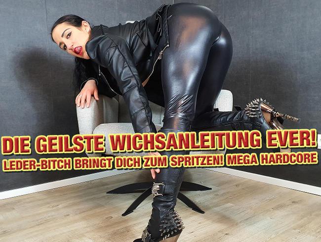 Video Thumbnail Die geilste Wichsanleitung EVER! Leder-Bitch bringt Dich zum Spritzen!