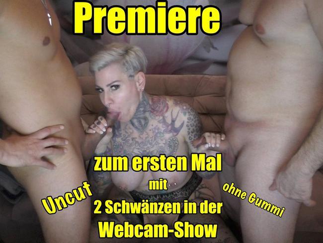 Video Thumbnail Premiere!!Zum eeten mal 2 Schwänze in der Webcam-Show