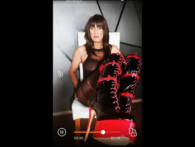Video Thumbnail Sieh meine neuen heißen Stiefel ,,Eure Lady ist  keine Herrin nur im Spiel mehr nicht