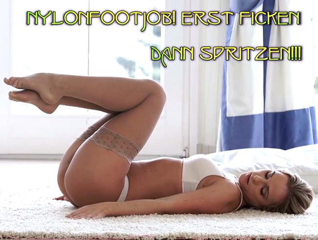 Video Thumbnail Nylonfootjob! Erst ficken dann Spritzen!!!