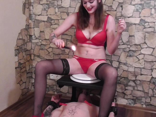 Video Thumbnail Kerzenwachs und Pisse – Willst du mein Toilettensklave sein?