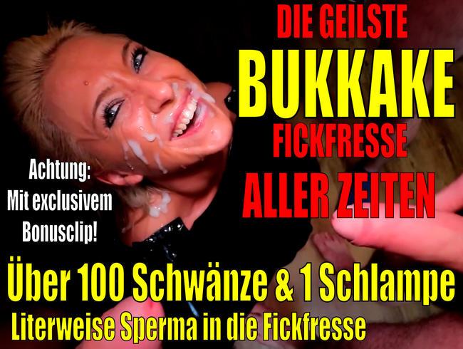 Video Thumbnail Die geilste BUKKAKE Fickfresse aller Zeiten | Best of 100 Schwänze + 1 Schlampe incl. BONUSCLIP!
