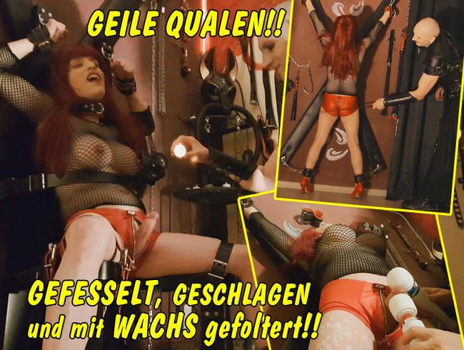 Video Thumbnail Geile Qualen! Gefesselt, geschlagen und mit Wachs gefoltert!!
