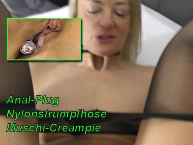 Video Thumbnail Anal-Plug - Nylonstrumpfhose - Muschi-Creampie