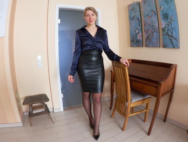 Video Thumbnail Mit SPERMA-STRUMPFHOSE in die ARBEIT - NYLONS-HEELS-FICK