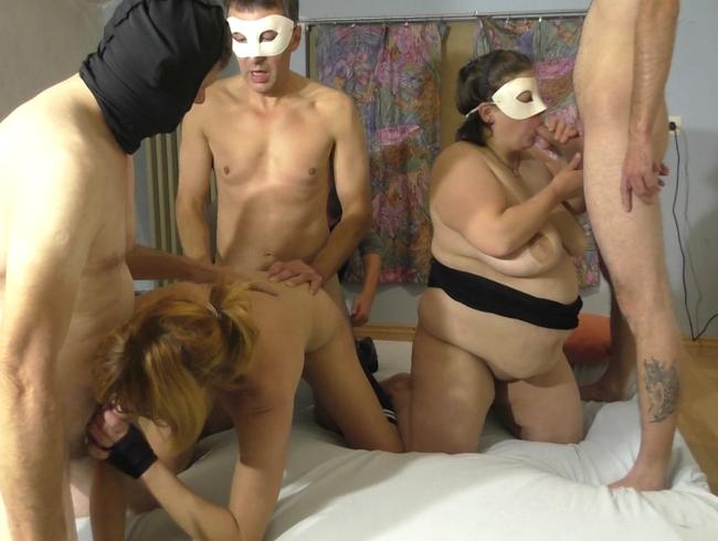 Video Thumbnail SperMarie und Regina Red-Gruppensex mit blasen ficken und geilem Tittenfick