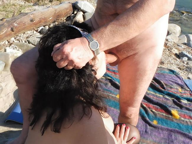 Video Thumbnail Ein Freund gibt mir seinen Schwanz zum Blasen Outdoor und spritzt mir in den Rachen
