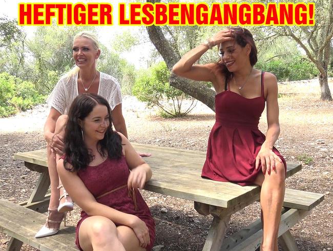 Video Thumbnail HEFTIGER LESBENGANGBANG!
