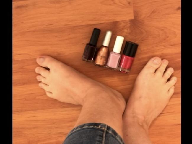 Video Thumbnail Farbe für die Füße