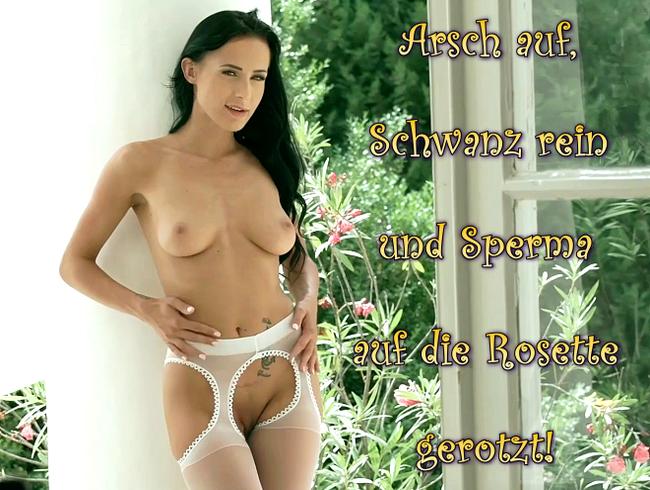 Video Thumbnail Arsch auf, Schwanz rein und Sperma auf die Rosette gerotzt!