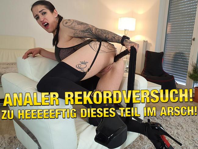 Video Thumbnail Analer Rekordversuch! Zu Heeeeftig Dieses Teil im Arsch!