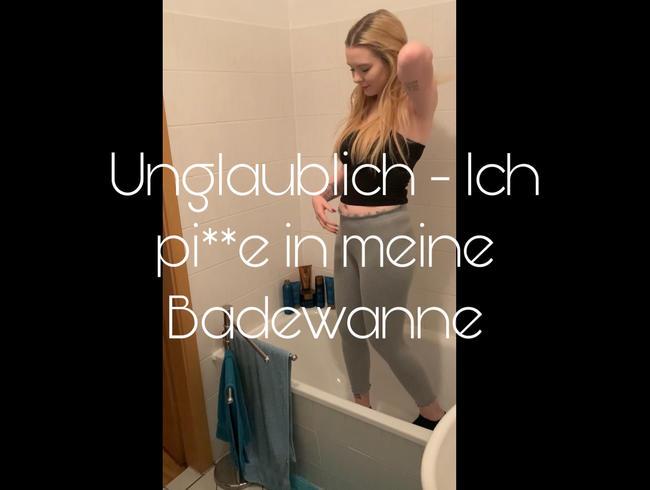 Video Thumbnail Unglaublich - Ich pi**e in meine Badewanne!