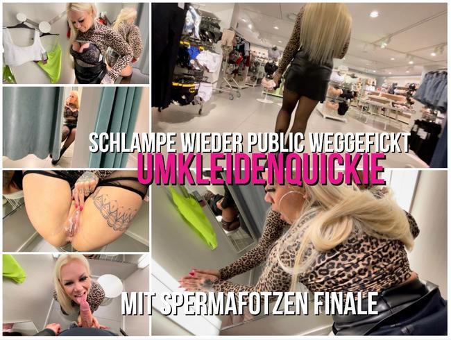 Video Thumbnail SCHLAMPE WIEDER PUBLIC WEGGEFICKT | Umkleiden Quickie mit Spermafotzen Finale