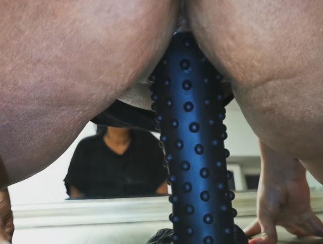 Video Thumbnail Dildo-Ritt vor dem Spiegel. (Nippendildo)