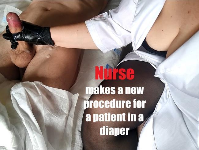 Video Thumbnail Krankenschwester macht ein neues Verfahren für einen Patienten in einer Windel