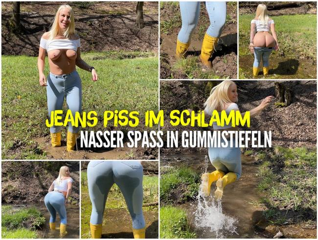 Video Thumbnail JEANS PISS im Schlamm | Nasser Spass in GUMMISTIEFELN