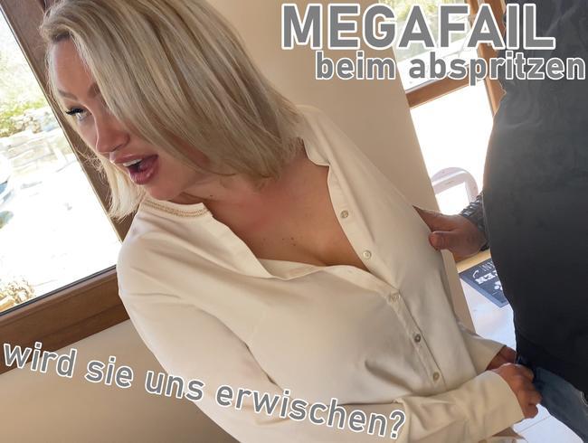 Video Thumbnail MEGAFAIL beim abspritzen! Wird sie uns erwischen?