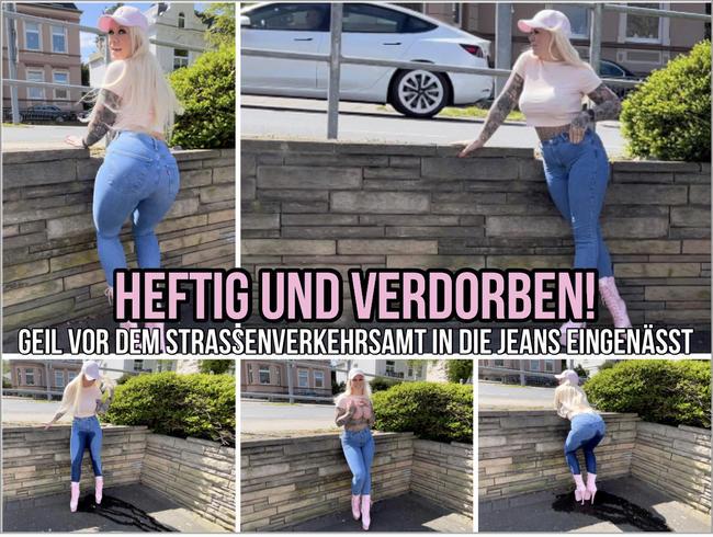 Video Thumbnail HEFTIG & VERDORBEN ! GEIL VOR DEM STRASSENVERLEHRSAMT IN DIE JEANS EINGENÄSST