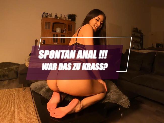 Video Thumbnail Spontan Anal !!! War das zu krass ?
