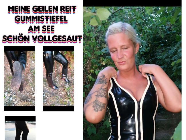 Video Thumbnail Meine geilen Reit Gummistiefel am See schön vollgesaut